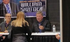 Sue with William Shatner at Comic Con 2015