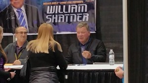 Sue with William Shatner at Comic Con 2015