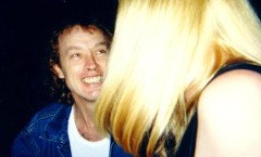 Angus and author -Razors Edge Tour 1990