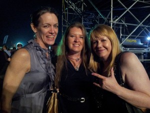 Ronnie, Bernadette and me at the Billy Idol concert NYC 2015