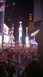 Times Square midnight